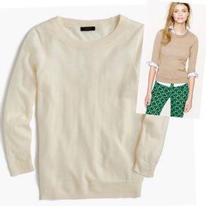 J. Crew Merino Wool Cream Pullover Sweater